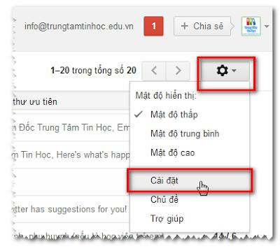 Setting Gmail