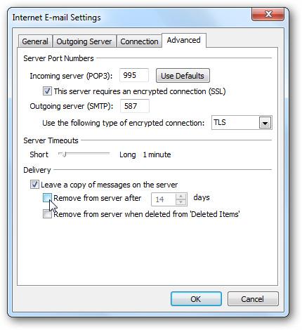 Cấu hình Gmail vào Outlook 2010
