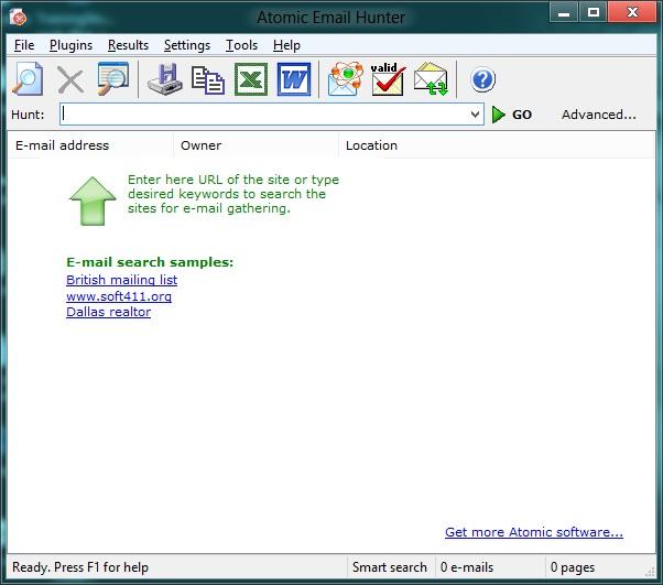 Atomic email hunter 3.5